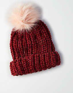 AEO Faux Fur Pom Beanie  cfd3c6047