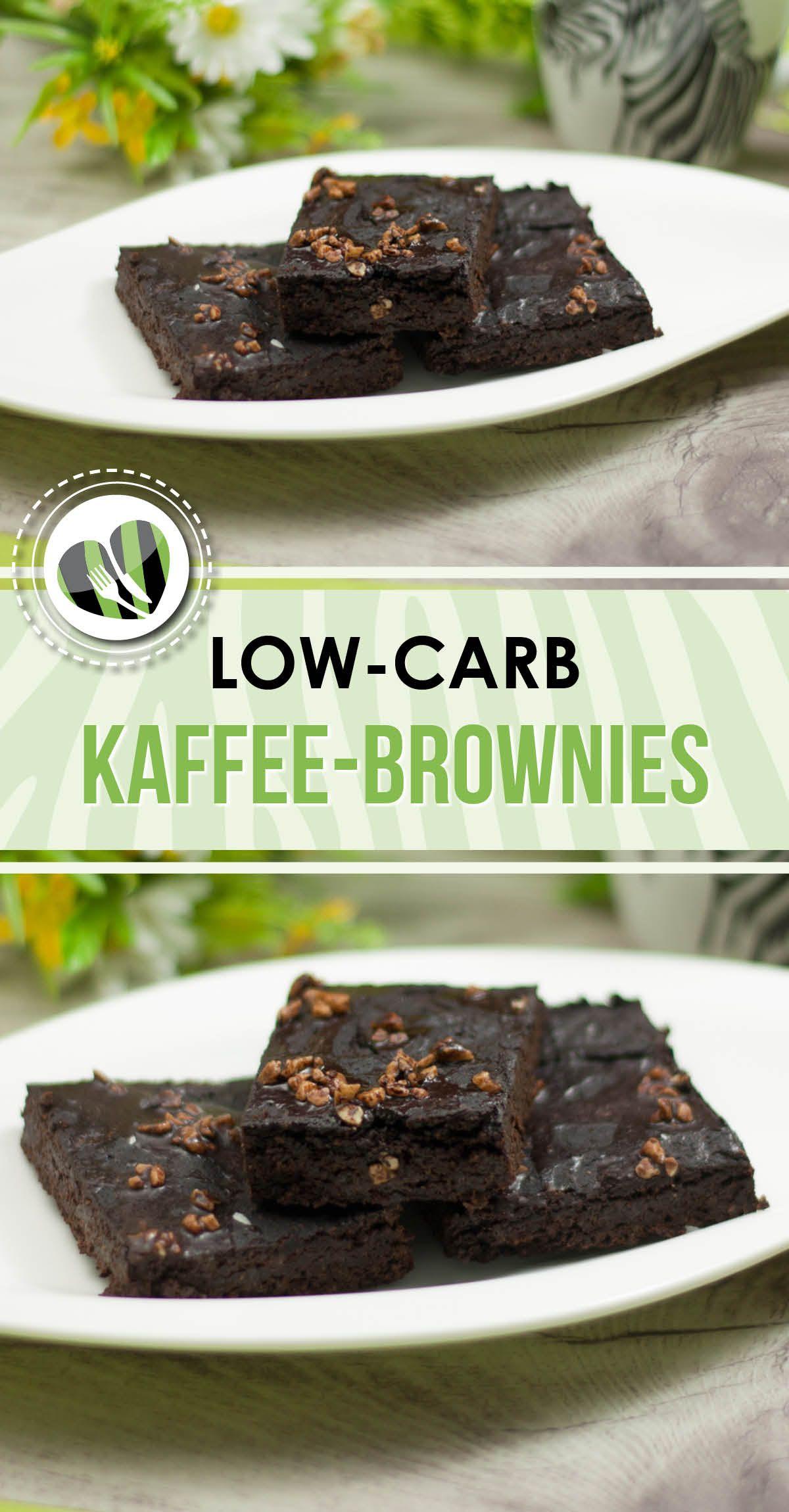 Die Kaffee Brownies sind low carb glutenfrei und vegan und somit der optimale