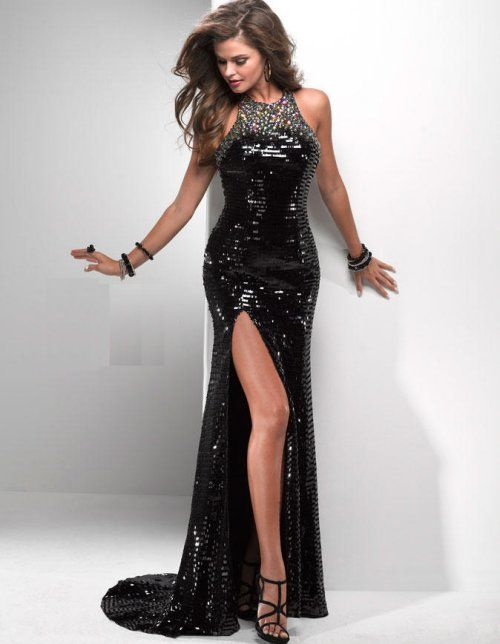 Gorgeous long black sequin prom dress 2014 by Flirt | Prom Dresses ...
