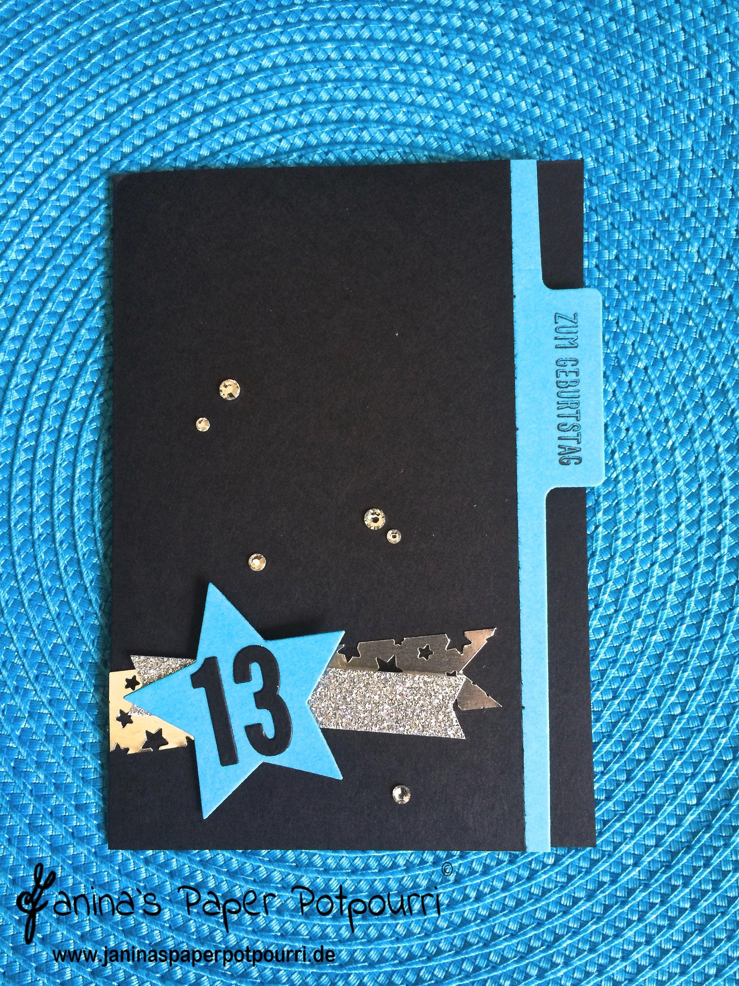 jpp - Teenie Geburtstagskarte türkiser Stern1