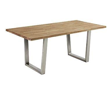 Mesa de comedor en madera de roble y acero Crane - natural