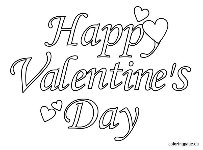 happy valentines day 2 coloring page - Valentines Day Coloring Pages