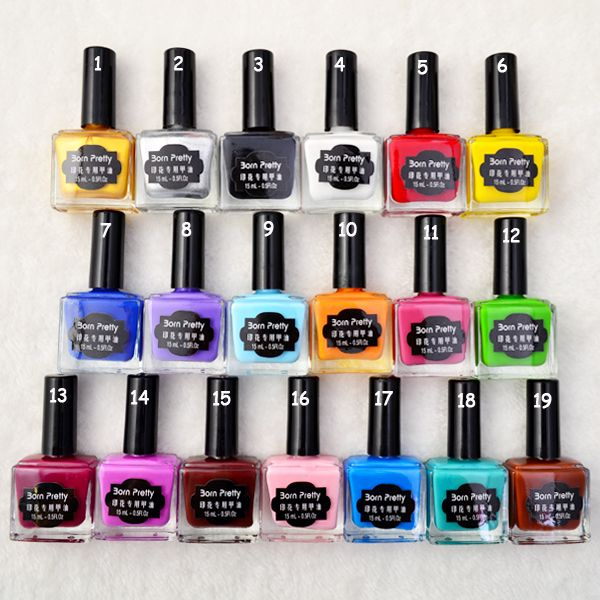 1PC 15ml Nail Polish Colorful Nail Stamping Polish Born Pretty ...