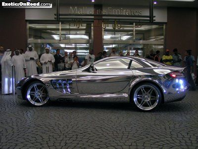 Mercedes Benz Made Of White Gold... A Perfect Combination Of Royalty And  Speed