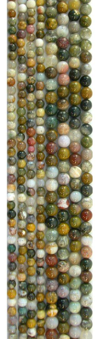 Ocean Jasper Round Beads, 16in Str