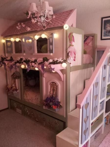 Sweet Pea Bunk Beds Do It Yourself Home Projects From Ana White Girl Bedroom Decor Diy Bunk Bed Kid Beds