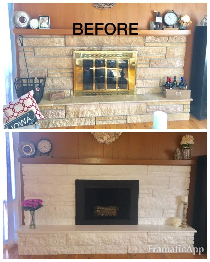 Stone Fireplace Update 1 Removed The Doors 2 High Heat