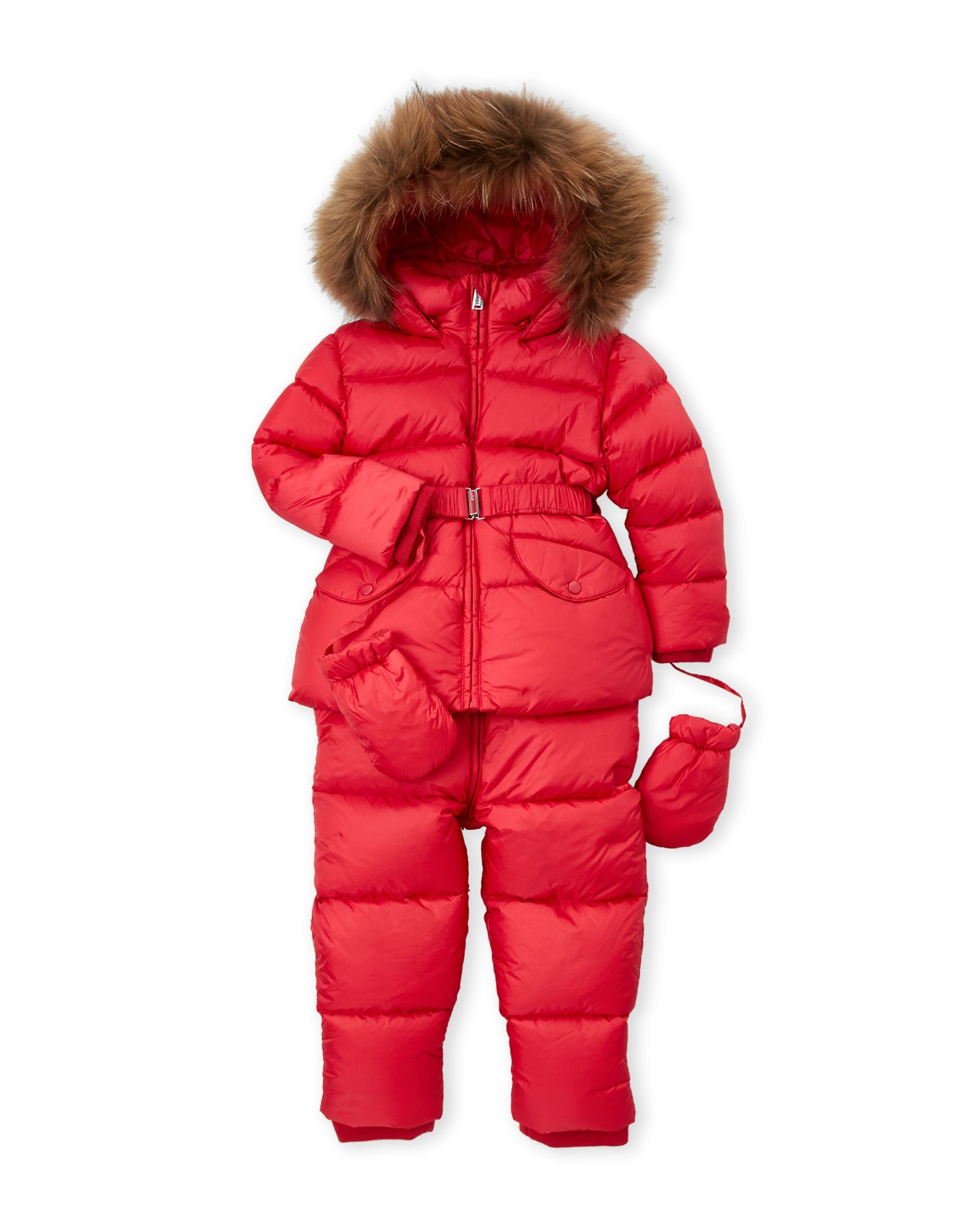 2344941cb056 Toddler Girls) Two-Piece Real Fur Trim Quilted Down Jacket ...