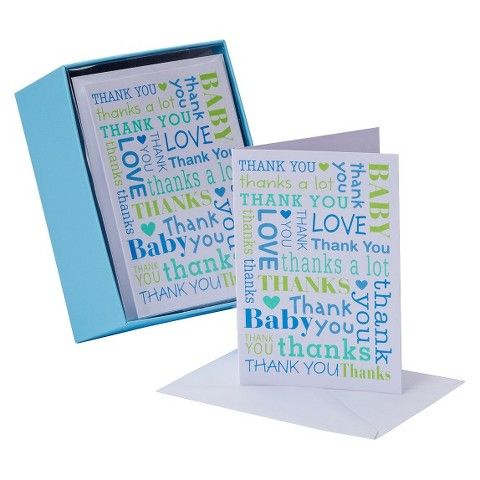 Thank You Card Pack 50 Count Carlton Thank You 11 99 Baby Shower