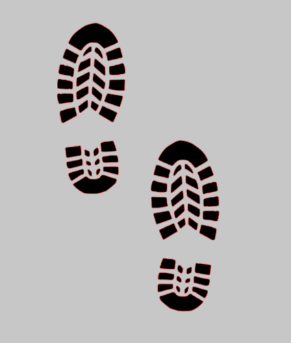 Boot Print Shoe Print Sticker Out Doors Walking 200mm Pair Of X 2 In 2021 Boot Print Print Stickers Shoe Print