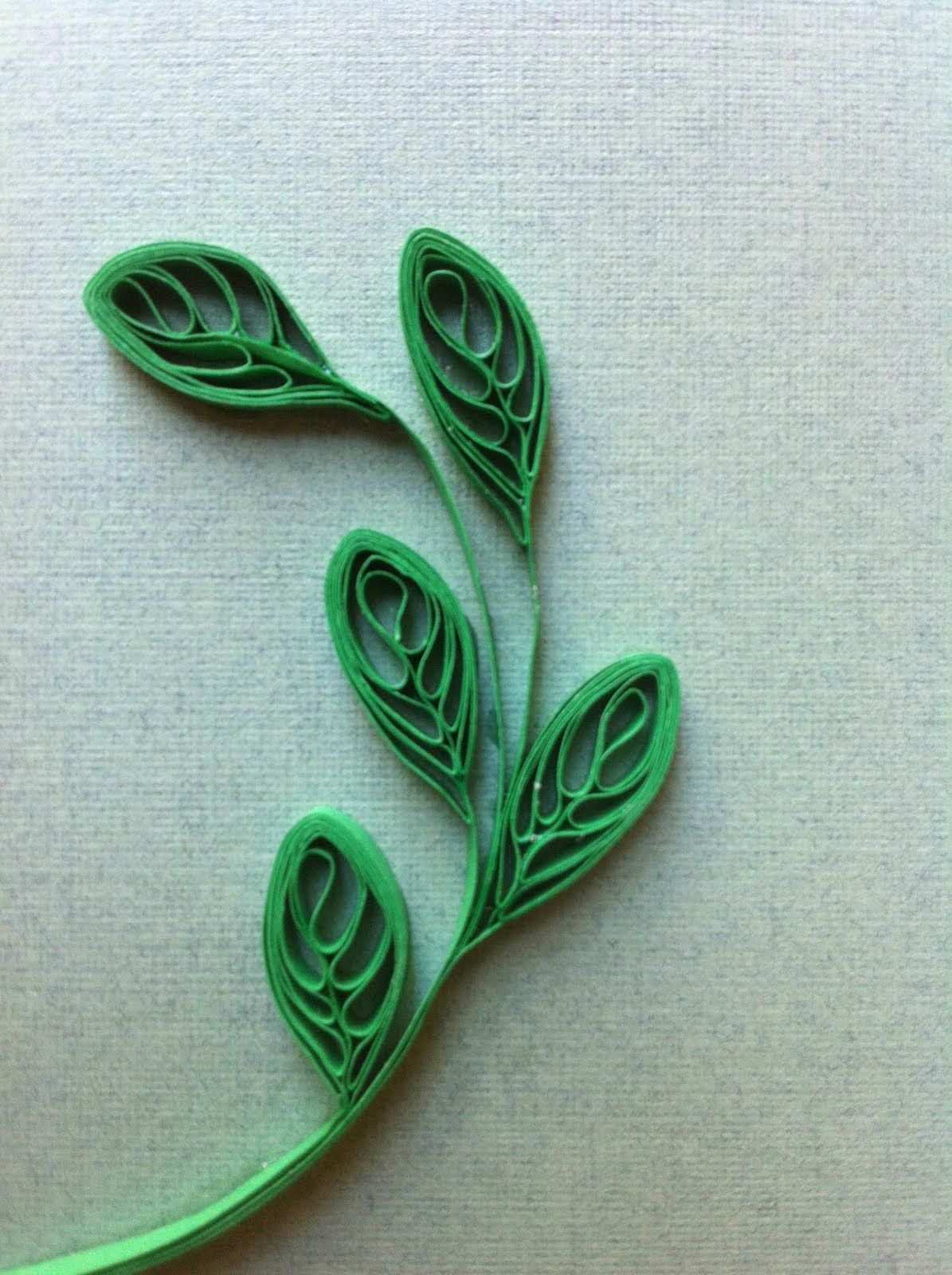 Quilling Template Ferns// Farn