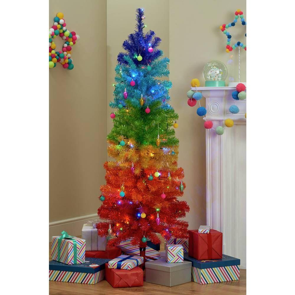 Buy Argos Home Rainbow Christmas Tree 5ft Christmas Trees Argos Rainbow Christmas Tree Rainbows Christmas Christmas Tree