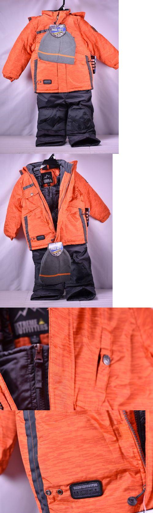9b433a819192 Outerwear 51933  Ixtreme Little Boys Tonal Print Snowsuit W Gaiter ...