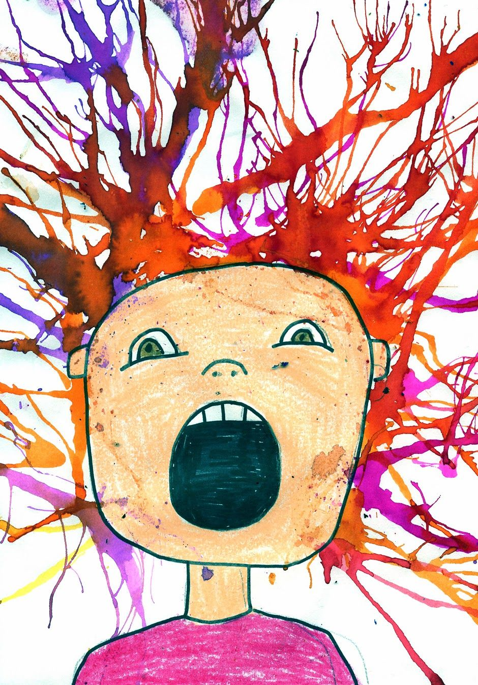 Art Projects For Kids Scream Blow Painting Autism Activities