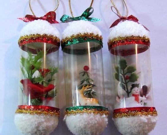 Resultado de imagen para decoracion navide a con botellas for Decoracion de navidad manualidades faciles