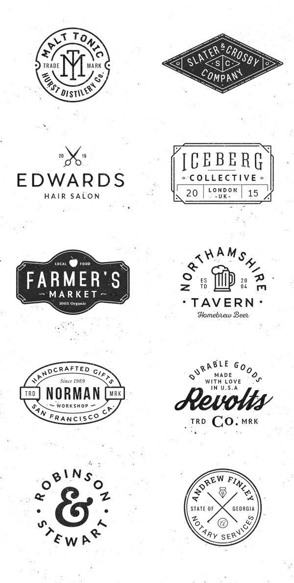 Logo Badge Templates Vol 4 On Behance Typography Logo Retro Logo Design Vintage Logo Design