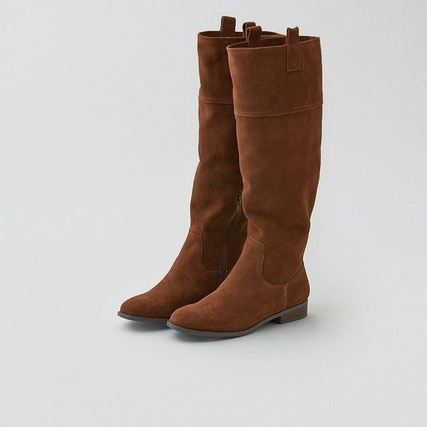 7bbc4c9ae78 American Eagle Suede Riding Boot Cut ( 110) ❤ liked on Polyvore featuring  shoes