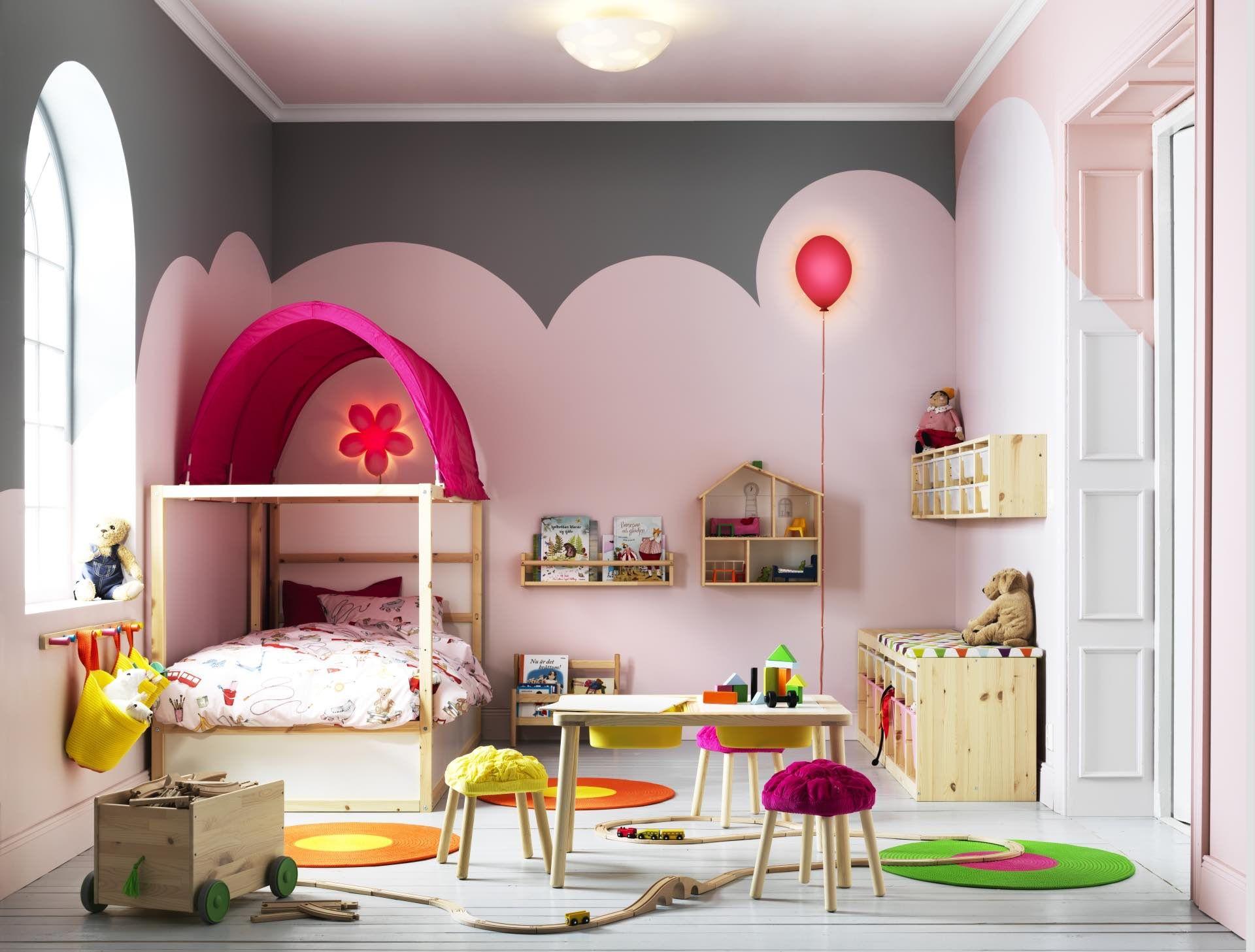 Habitaciones Para Niños Rosas Como La Tarta De Fresa.