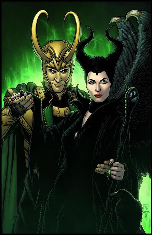 Loki And Maleficent Sitting In A World Tree Maleficent