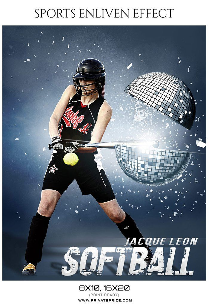 jacque leon softball sports enliven effect photography template