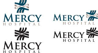 I did this logo for Mercy Hospital in Moose Lake, the blue on the cross stands for the M and the gray on the sides of the cross serve as the H. Fun project and process.