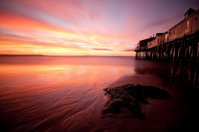 Old Orchard Beach Dawn Long Exposure by moe chen, via Flickr