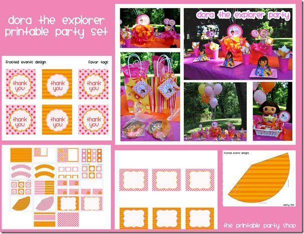 the printable party shop dora birthday Party, Birthday