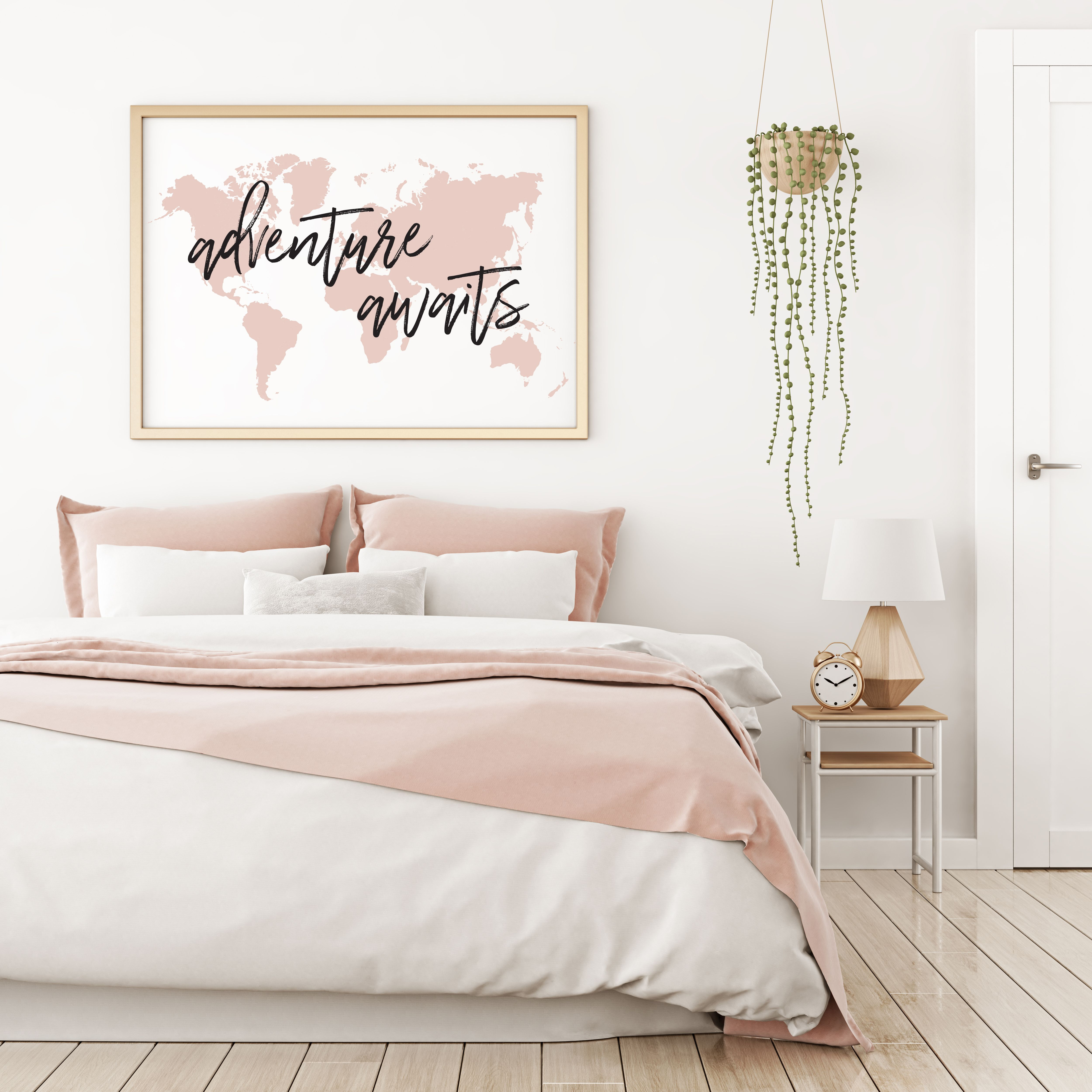 Large map above bed blush map prints map art map prints art above bed blush art blush prints modern map