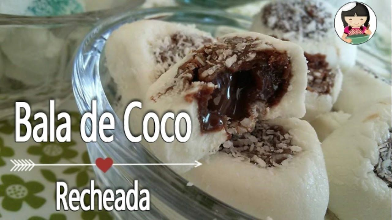 Bala De Coco Recheada Bala Gourmet Dika Da Naka Bala De Coco