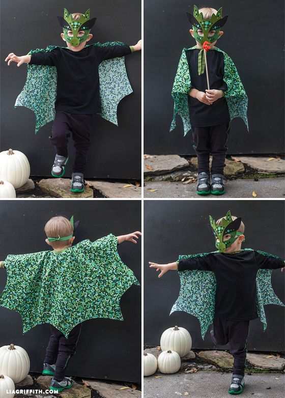 Home Made Halloween Costumes No Sew Dragon Mask And Cape Free Pattern And Tutorial Liagriffith Diy Dragon Costume Dragon Halloween Dragon Halloween Costume