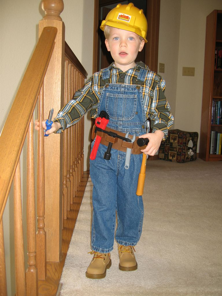 Diy Kids Construction Worker Costume Google Search