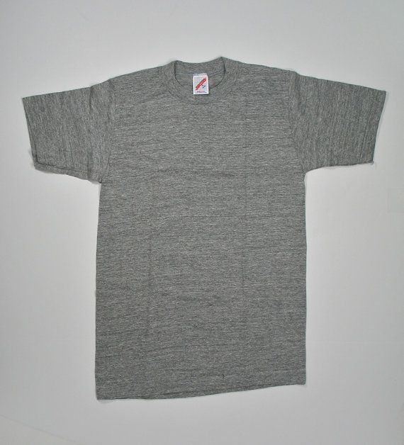 8c0a460e 80s Blank Gray Tri-blend T Shirt XS Plain Tee by JaybrrdsWhatnots ...