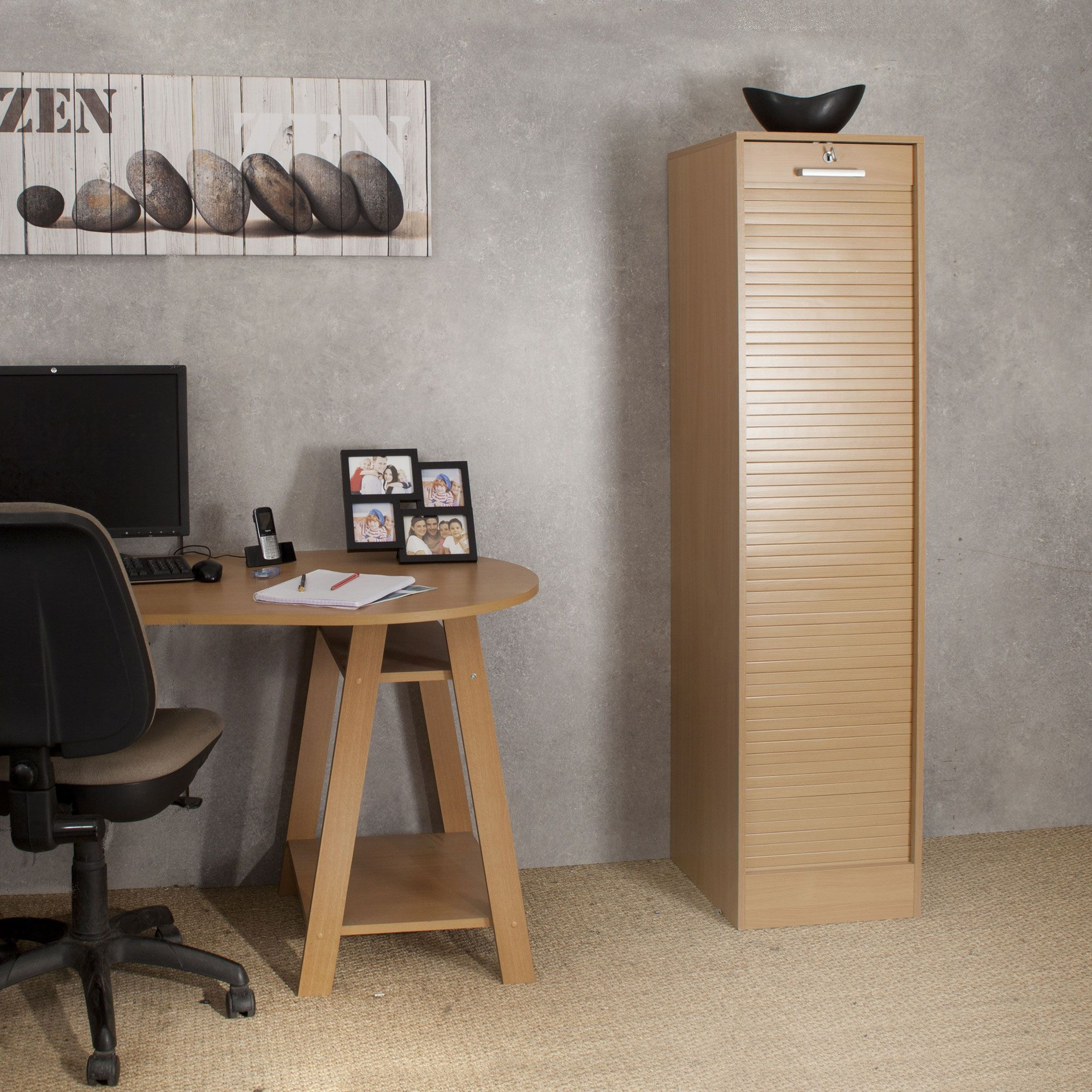 Classeur Rideaux En Bois Hauteur 170 Cm Classeurs The Office  # Classeur Pour Salon