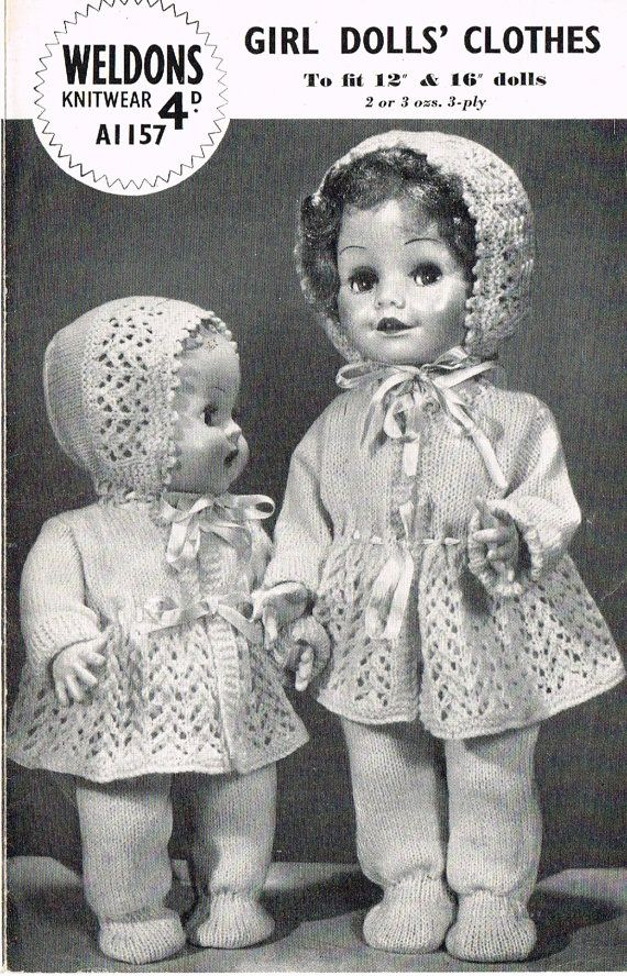 Dolls Clothes Knitting Pattern 12 Quot Amp 16 Quot Doll Baby Born