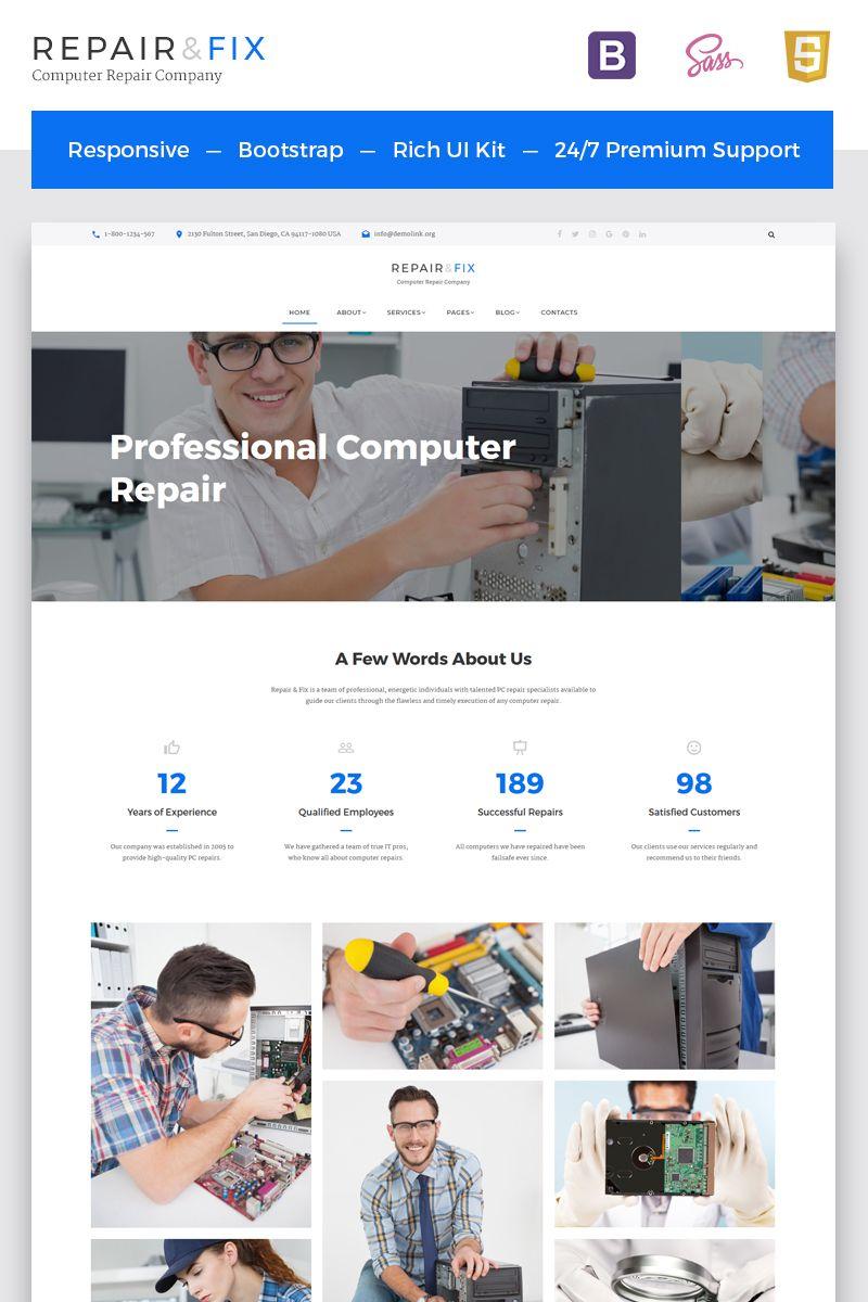 Computer Repair Company Multipage Html5 Template Computer Repair Web Design Software Repair