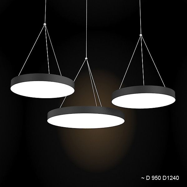 Hanging Ceiling Light 3d Autocad Model: Wever Ducre Big Xenon Pendant