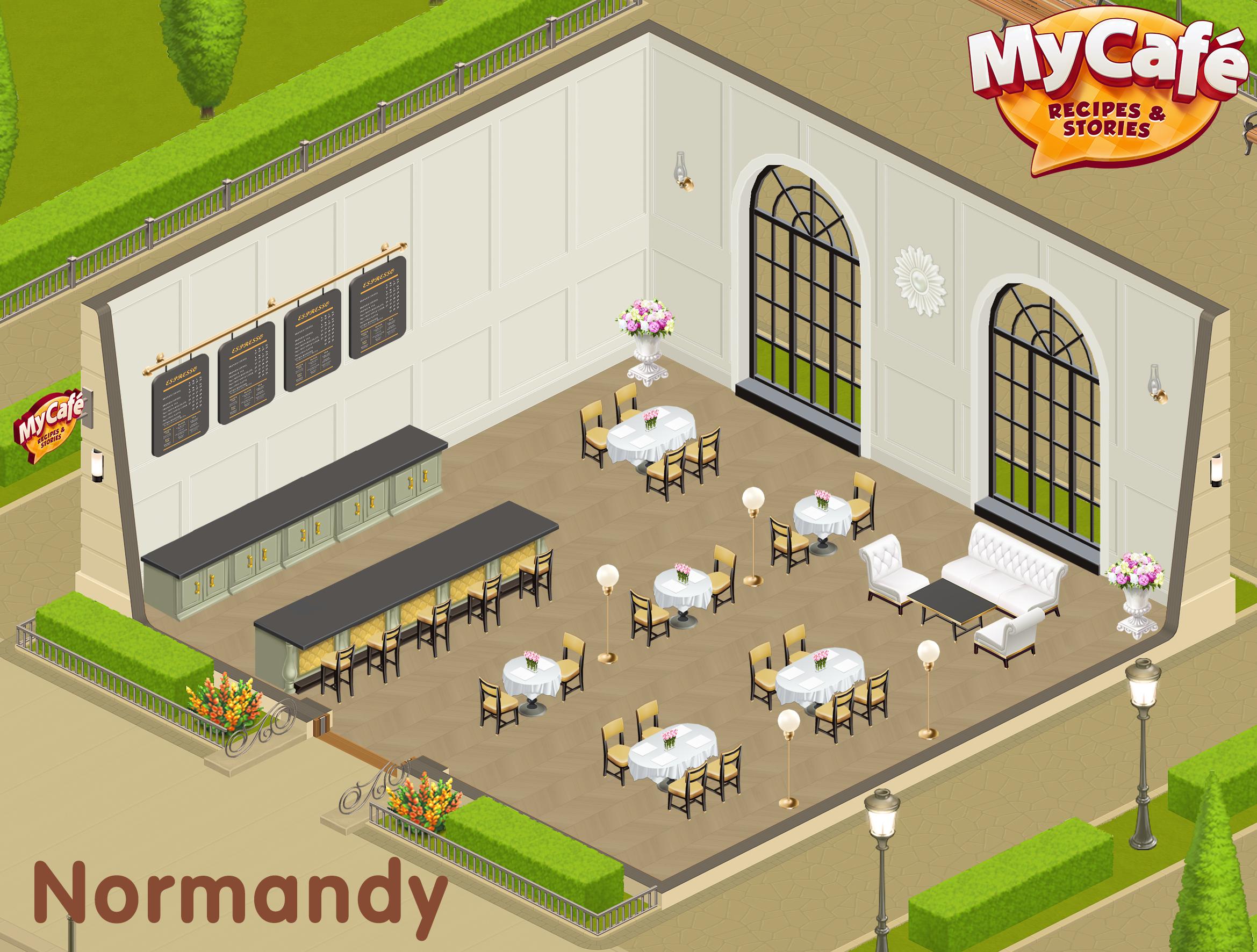 Normandy French Style My Cafe Game Mycafe Mycafegame Cafe Design