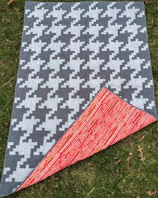 Free Houndstooth Quilt Pattern - this would make a great, trendy ... : houndstooth quilt pattern - Adamdwight.com