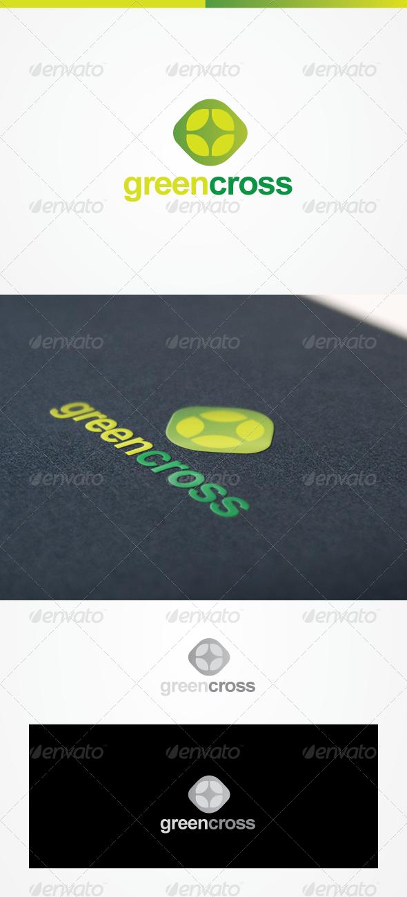 Green Cross Green Logo Design Logo Design Creative Flower Logo Design