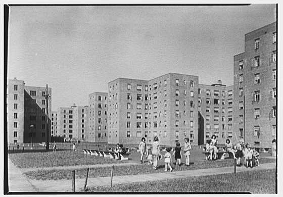 1939 Red Hook Housing Project Brooklyn New York General View Ii Brooklyn New York Skyline Park