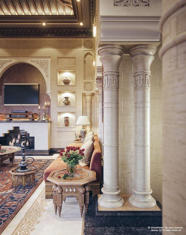 Oriental majlis villa sheikh nawaf al khalifa qatar