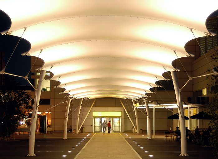 Glasgow Airport Covered Walkway Fabric Canopy