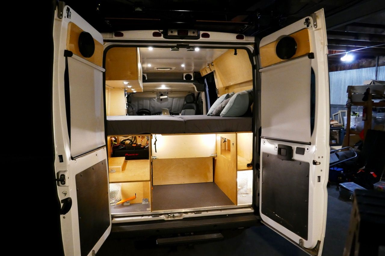 Glampervan upfits your ram promaster van into a multi use vehicle
