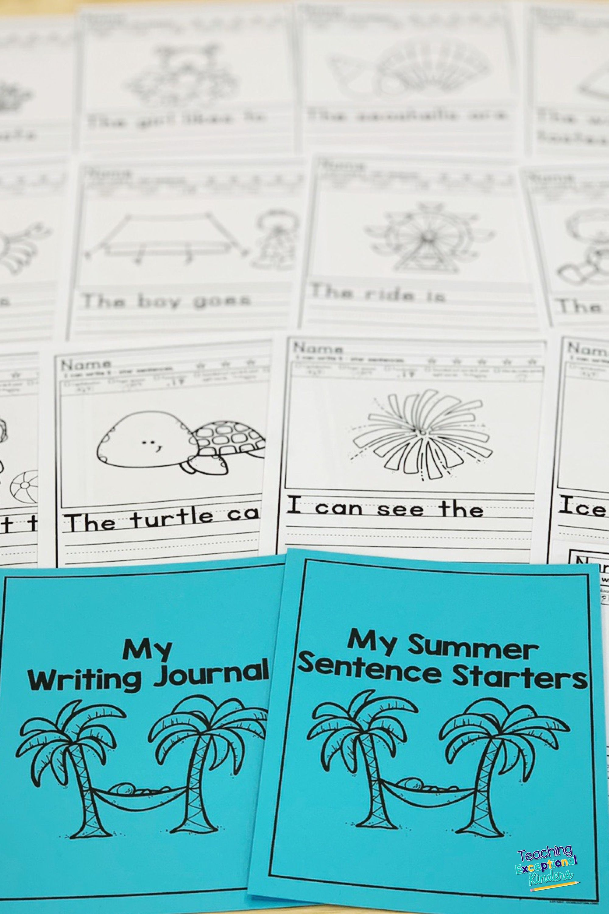 Distance Learning Summer Picture Writing Prompts With