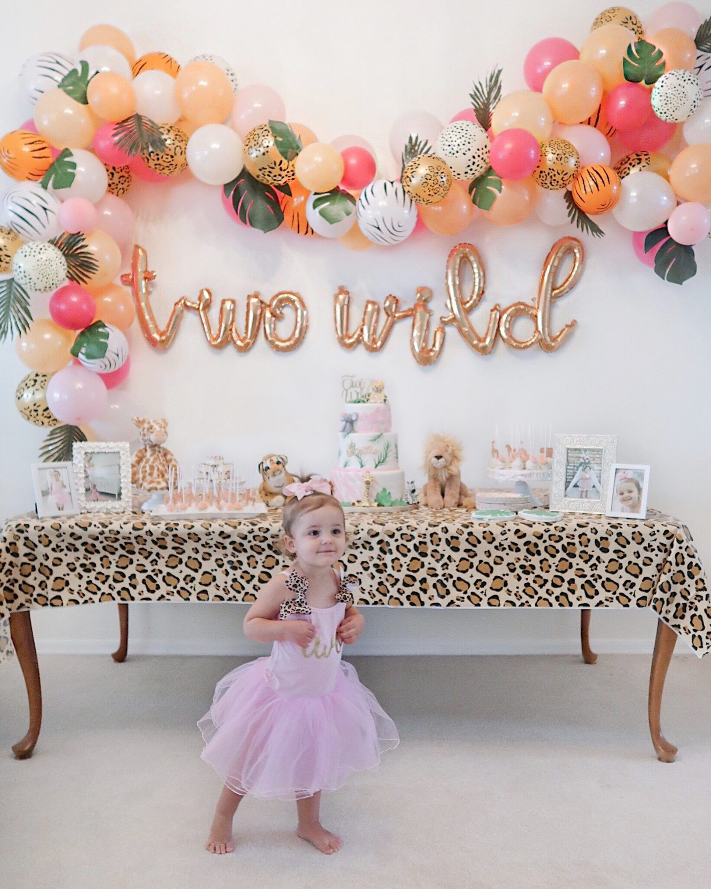Brie Bemis Rearick Safari Girl Birthday Party Summer Tropical Inspiration 2nd Birthday Party For Girl Girls Birthday Party Themes Wild Birthday Party