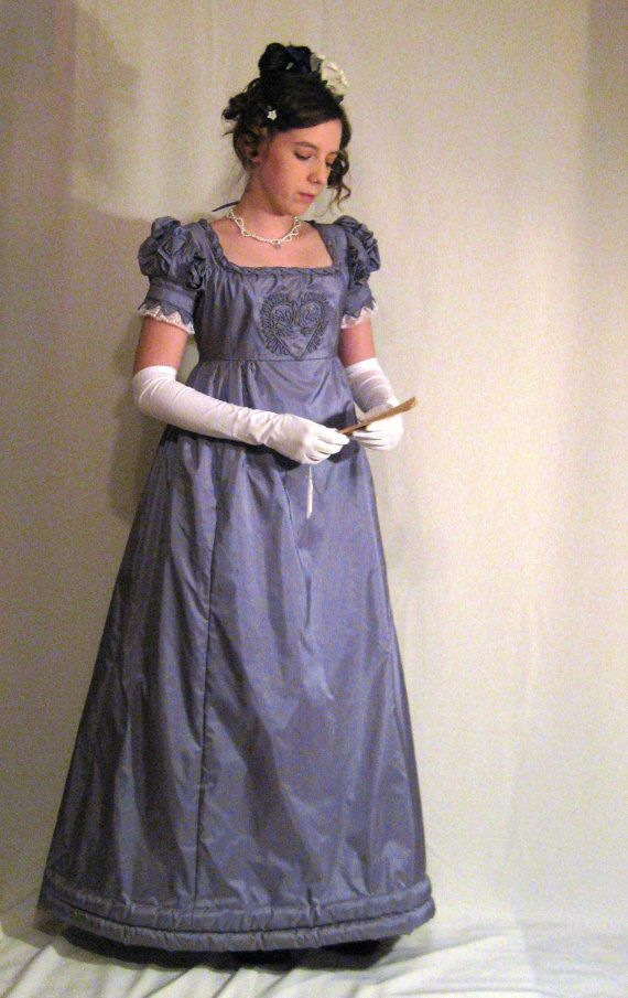 Reserved for Flo Cilla: Late Regency 1820 Ball or Evening Silk Gown ...