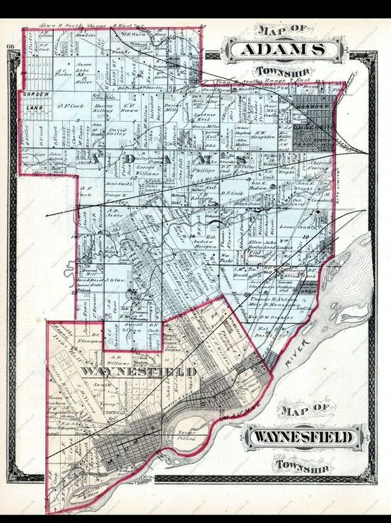 Historic Map Of Adams Township Toledo Ohio From Andreas And Baskin