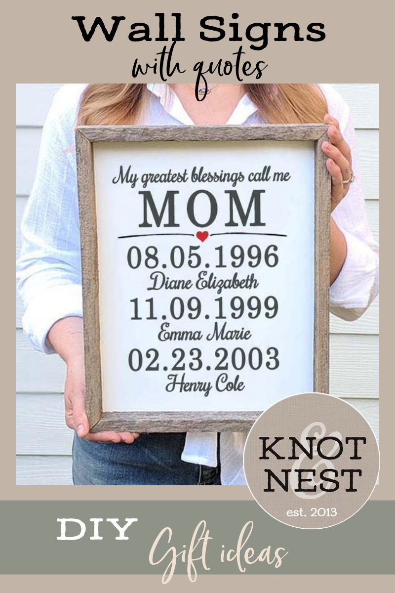 Farmhouse Wood Sign Personalized Christmas Gifts From Daughter Etsy Personalized Signs Farmhouse Wood Sign Personalized Mother S Day Gifts