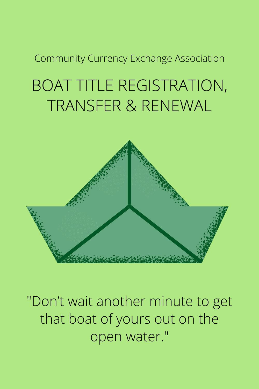 Boat Title Registration Renew Title Boat
