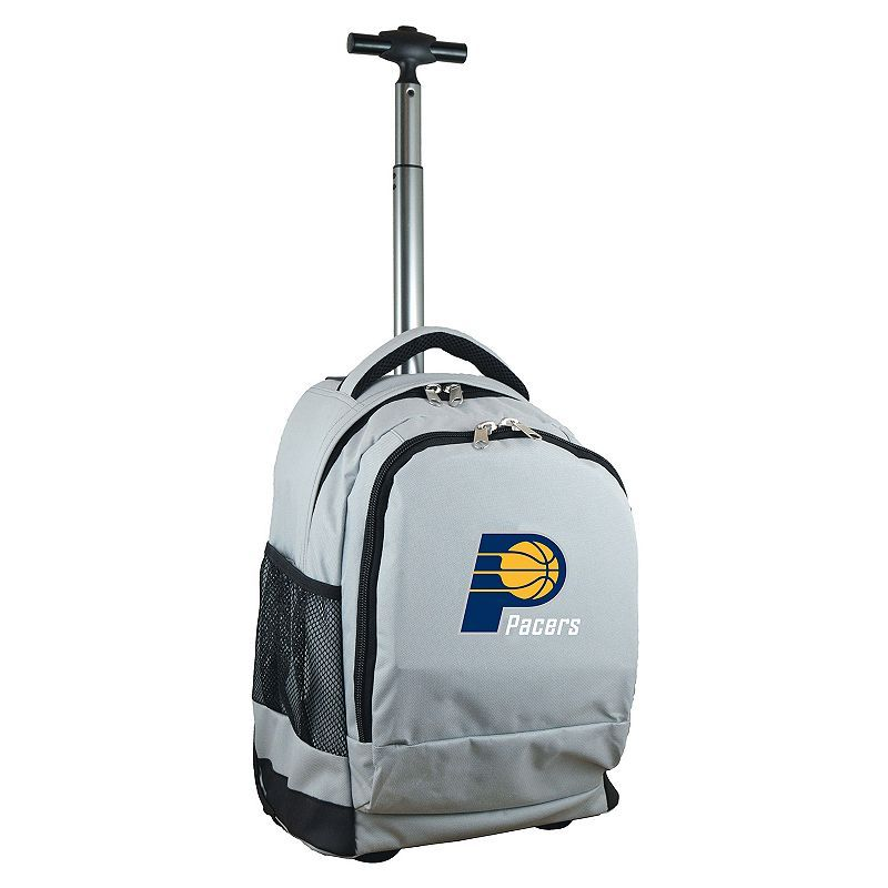 Indiana Pacers Premium Wheeled Backpack, Grey
